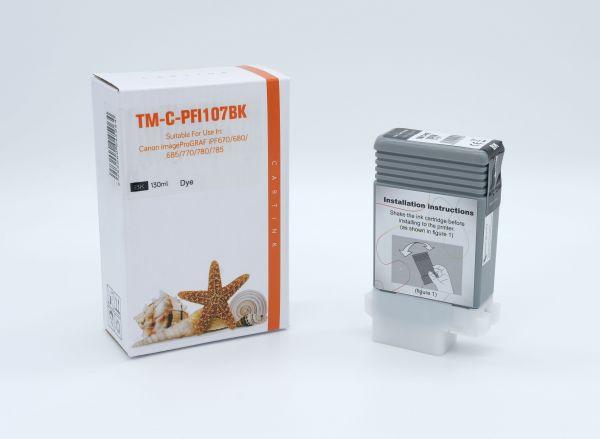 Alternativ zu Canon PFI-107 BK Druckerpatrone schwarz