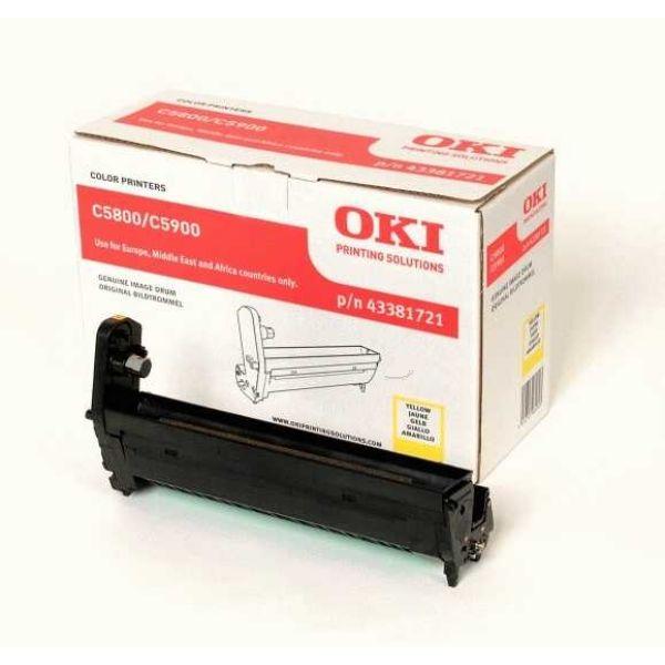 OKI 43381721 Original Drum Kit gelb