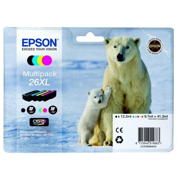 Epson 26XL Original Tintenpatrone MultiPack Bk,C,M,Y XL