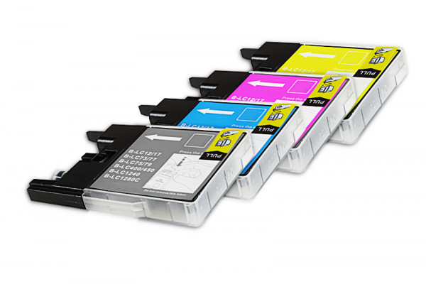 Alternativ zu Brother LC-1240 Tinten Spar Set (4xBK,je 2xC,M,Y) 10 Stück
