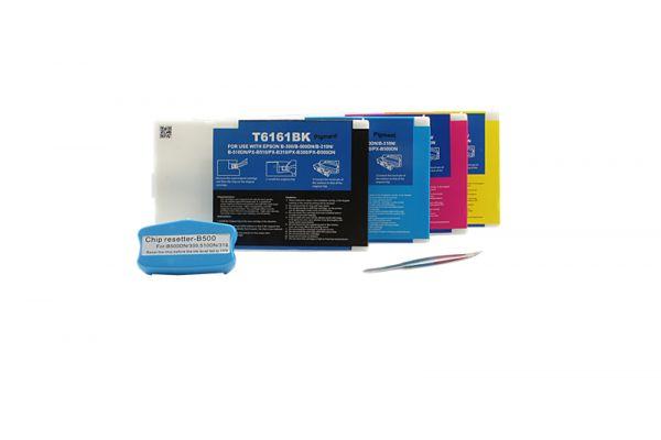 Alternativ zu Epson T6161-6164 Tinten Multipack inkl. Resetter (o. Chip)