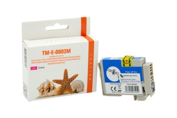 Alternativ zu Epson T0803 Druckerpatrone magenta