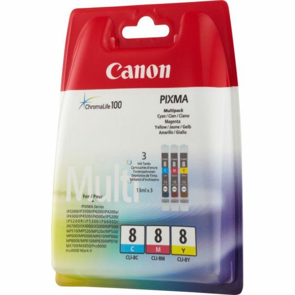 Canon CLI-8 Original Tintenpatrone MultiPack C,M,Y