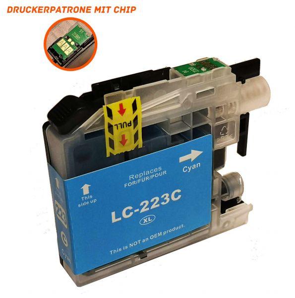 Alternativ zu Brother LC-223C Druckerpatrone cyan