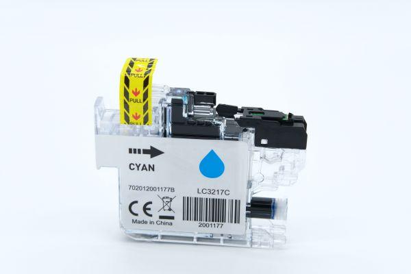 Alternativ zu Brother LC-3217C Druckerpatrone cyan