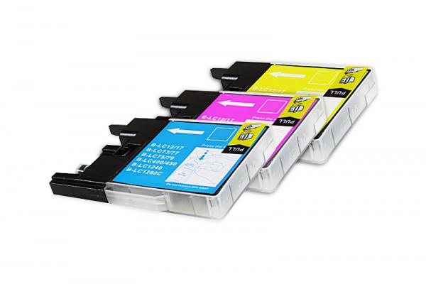 Alternativ zu Brother LC-1280XLRBWBPDR Tinten Spar-Set (C,M,Y) 3 Stück