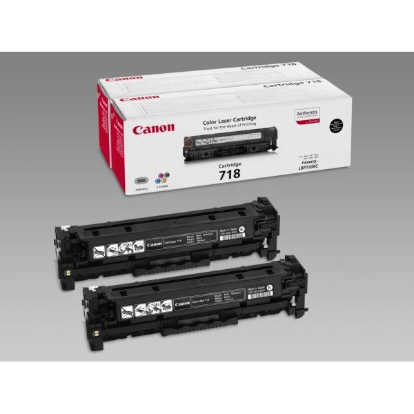Canon 718BKVP Original Tonerkartusche schwarz Doppelpack