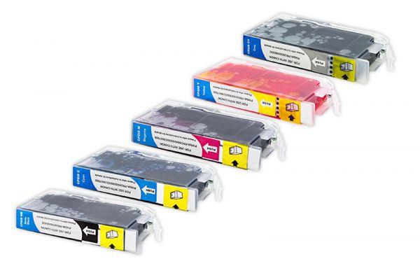 Alternativ zu Canon PGI-9 Tinte Multipack MBK,LC,LM,R,G