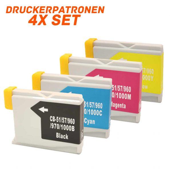 Alternativ zu Brother LC-1000VAL LC-970VALBP Druckerpatrone MultiPack Bk,C,M,Y