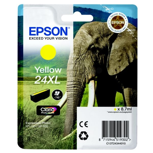 Epson 24XL Original Tintenpatrone gelb