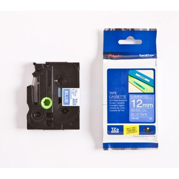 Brother TZE-535 Original P-Touch weiss auf blau Laminat