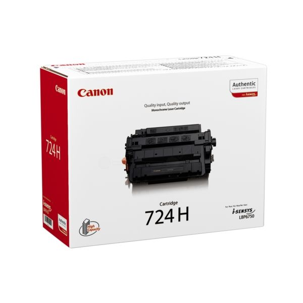 Canon 724H Original Tonerkartusche schwarz
