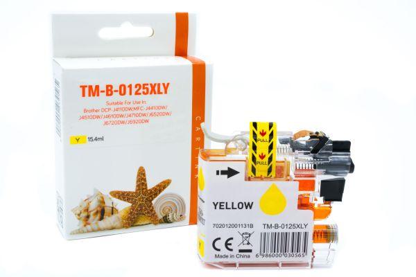 Alternativ zu Brother LC-125XLY Druckerpatrone gelb