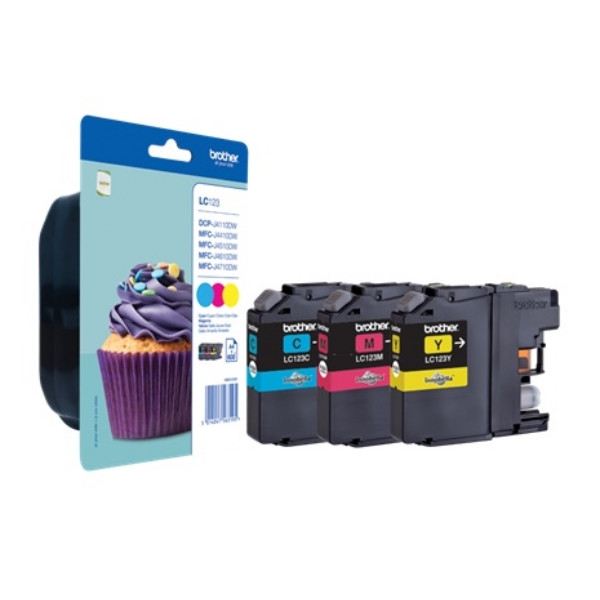 Brother Ink LC 123 Color-Pack (LC123RWBDR)