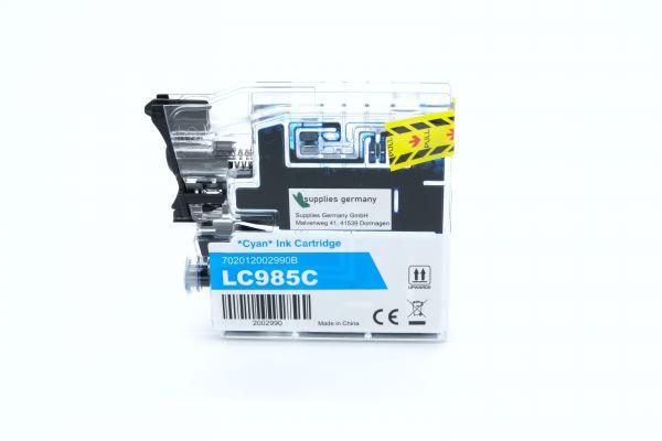 Alternativ zu Brother LC-985C Druckerpatrone cyan