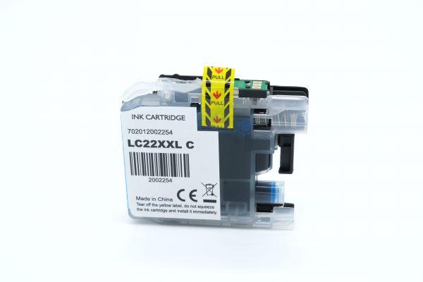 Alternativ zu Brother LC-22EC Druckerpatrone cyan