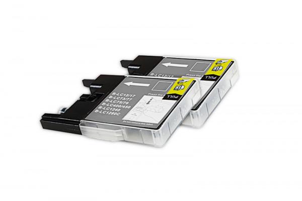 Alternativ zu Brother LC-1240BKBP2DR Tinte schwarz Doppelpack