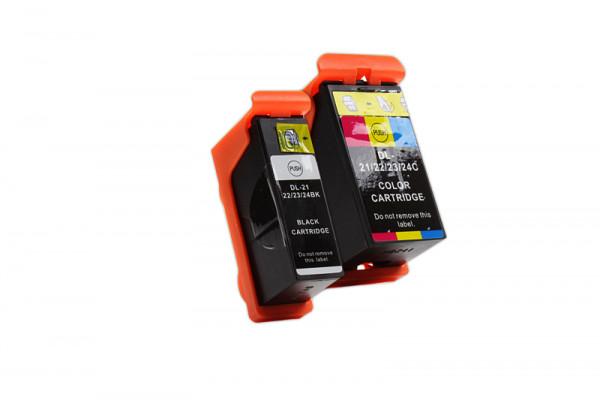 Alternativ zu Dell Y498D Tinte schwarz Doppelpack