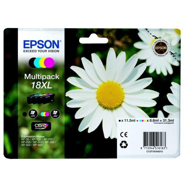 Epson 18XL Original Tintenpatrone MultiPack Bk,C,M,Y