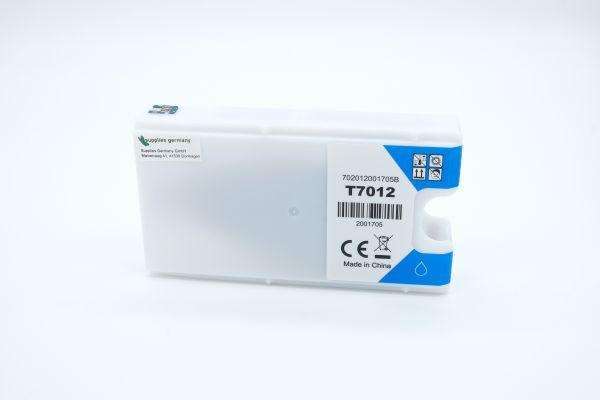 Alternativ zu Epson T7012 Druckerpatrone cyan XXL