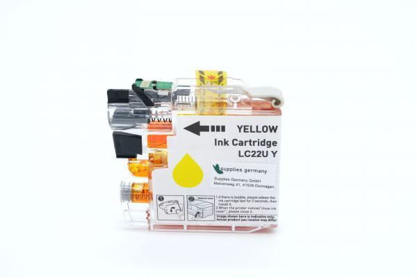 Alternativ zu Brother LC-22UY Druckerpatrone gelb XL