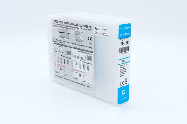 Alternativ zu Epson T9072 Druckerpatrone cyan XXL