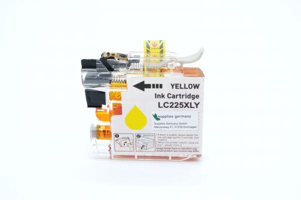 Alternativ zu Brother LC-225XLY Druckerpatrone gelb