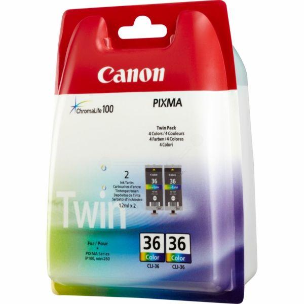 Canon CLI-36 Original Tintenpatrone color Doppelpack