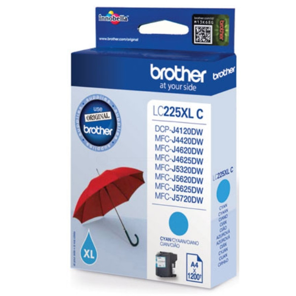 Brother Ink LC 225XL Cyan 1,2k (LC225XLC)