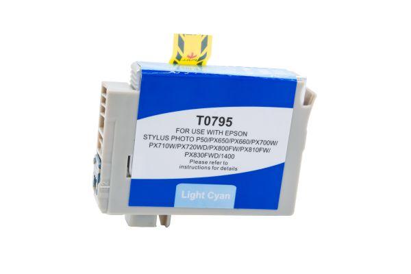 Alternativ zu Epson T0795 Druckerpatrone cyan hell