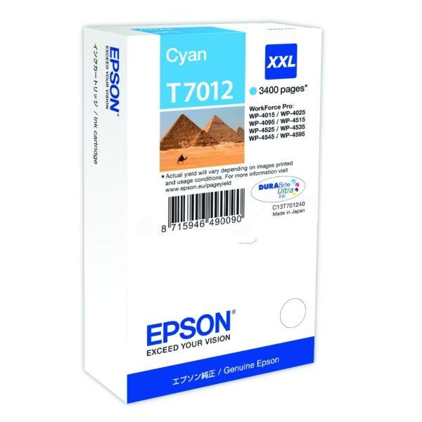 Epson T7012 Original Tintenpatrone cyan XXL