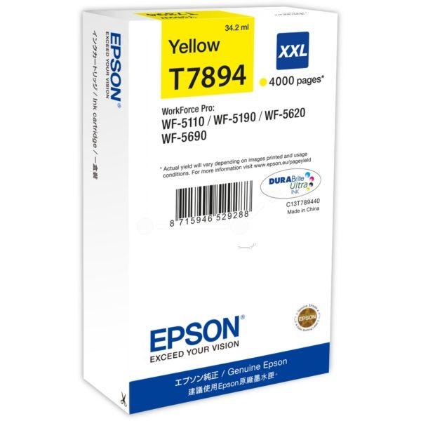 Epson T7894 Original Tintenpatrone gelb XXL