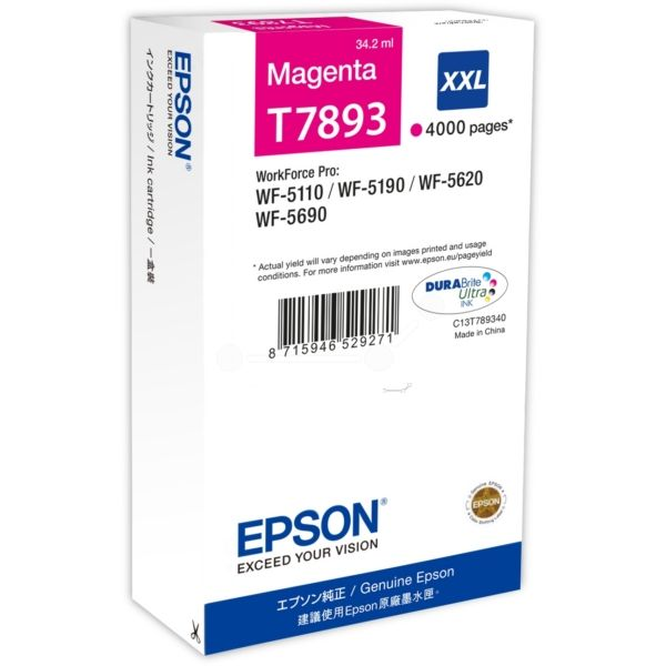 Epson T7893 Original Tintenpatrone magenta XXL