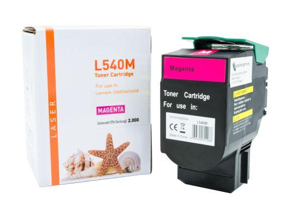 Alternativ zu Lexmark C540H1MG Toner magenta