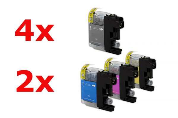 Alternativ zu Brother LC-127XLVALBP Tinte Multipack Bk,C,M,Y