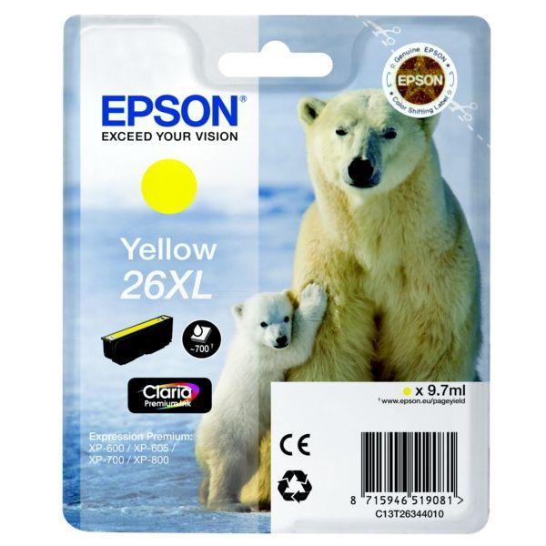 Epson 26XL Original Tintenpatrone gelb XL