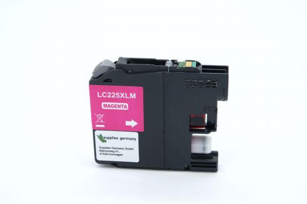 Alternativ zu Brother LC-225XLM Druckerpatrone magenta