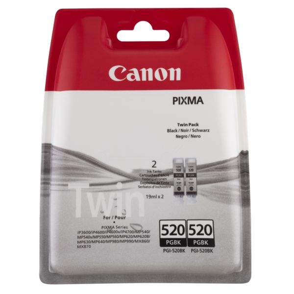Canon PGI-520PGBK Original Tintenpatrone schwarz pigmentiert Doppelpack