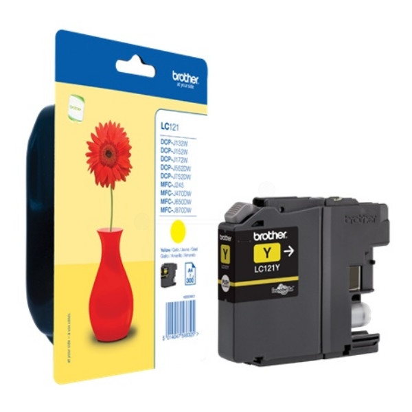 Brother Ink LC 121 Yellow 0,3k (LC121Y)