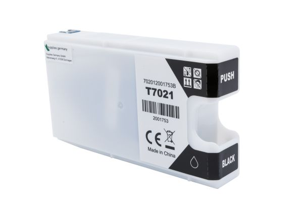 Alternativ zu Epson T7021 Druckerpatrone schwarz XL