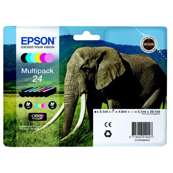 Epson 24 Original Tintenpatrone MultiPack Bk,C,M,Y,LC,LM