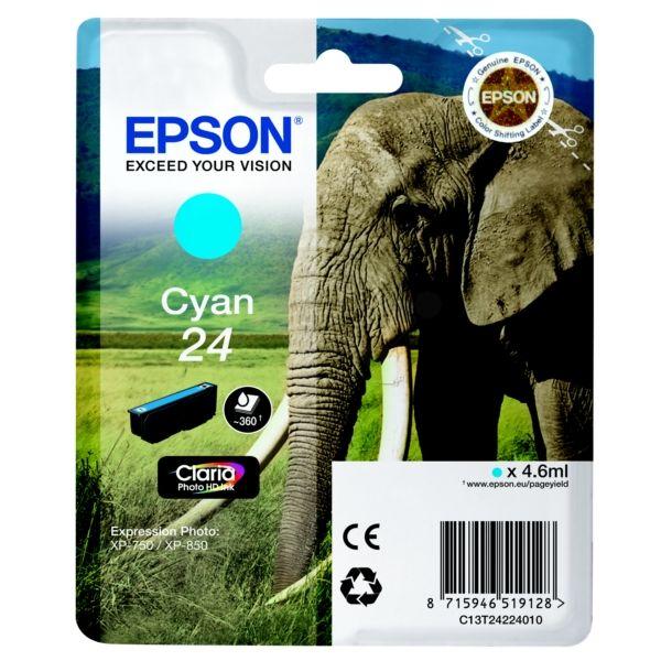 Epson 24 Original Tintenpatrone cyan