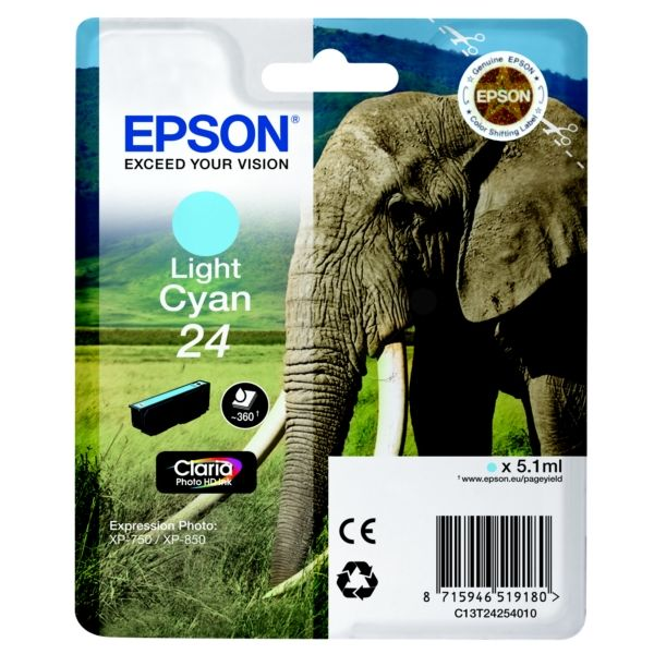 Epson 24 Original Tintenpatrone cyan hell