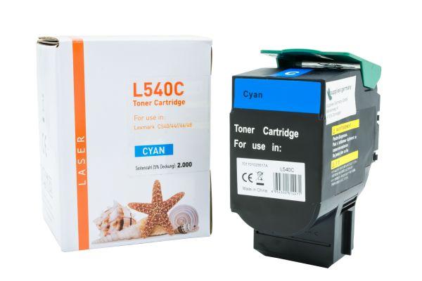 Alternativ zu Lexmark C540H1CG Toner cyan